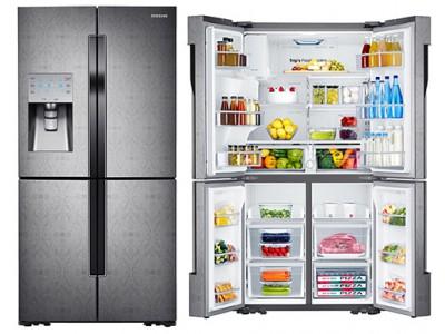 Samsung выводит на мировой рынок свои новые 4-дверные холодильники Flex