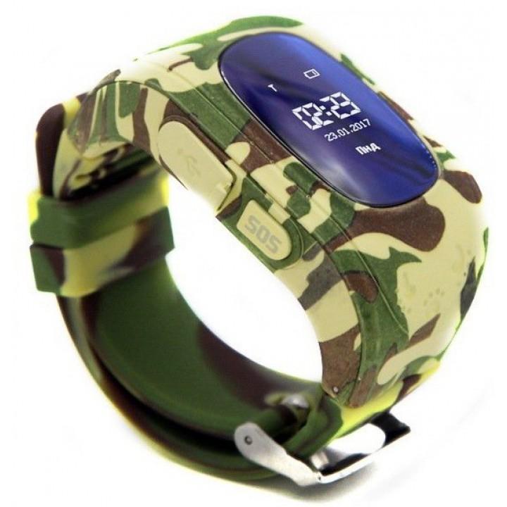 Детские часы-телефон с GPS трекером GOGPS K50 (K50KK) Camouflage