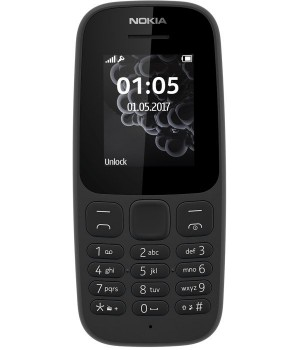 Nokia 105 Single Sim 2017 Black (A00028356)
