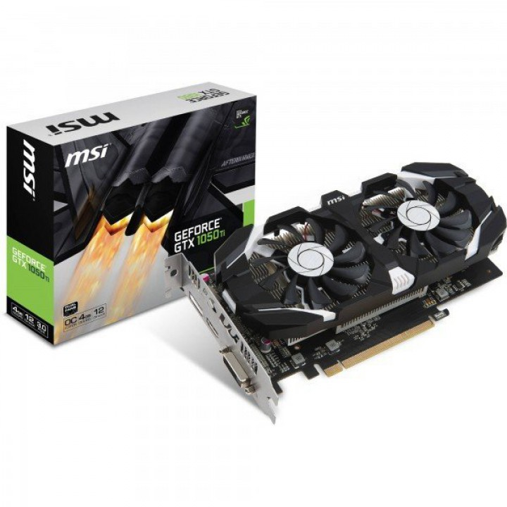 Видеокарта MSI GeForce GTX 1050 Ti 4GB DDR5 OC (GF_GTX_1050_Ti_4GT_OC)