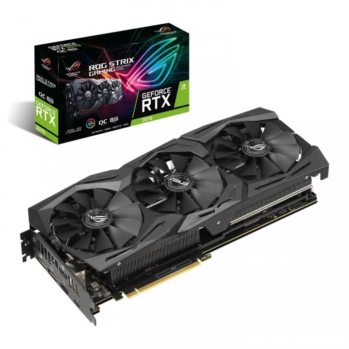 Видеокарта ASUS GeForce RTX2070 8GB GDDR6 STRIX GAMING OC (STRIX-RTX2070-O8G-GAMING)