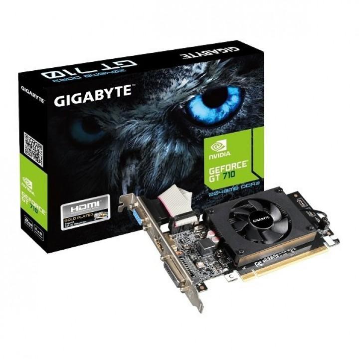 Видеокарта GIGABYTE GeForce GT 710 2GB DDRR5 64bit Low Profile (GV-N710D5-2GL)