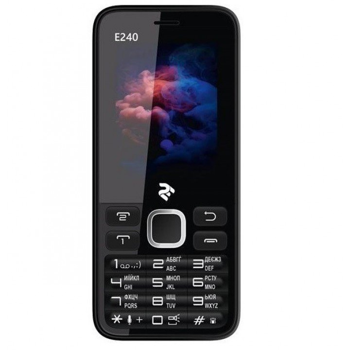Телефон 2e E240 Dual Sim Black/White