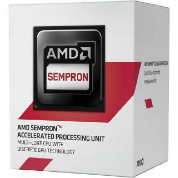 Процессор AMD Sempron 3850 AM1, 1.3GHz, 25W, Box (SD3850JAHMBOX)