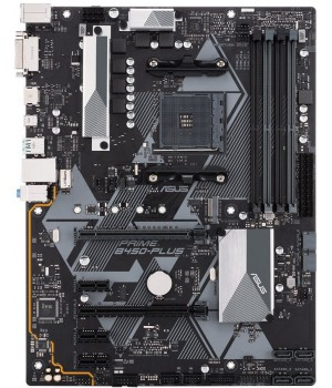 Материнская плата Asus Prime B450-PLUS (sAM4, AMD B450, PCI-Ex16)
