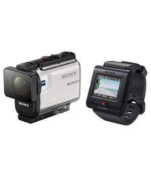 Экшн-камера Sony HDR-AS300 + пульт RM-LVR3 (HDRAS300R.E35)