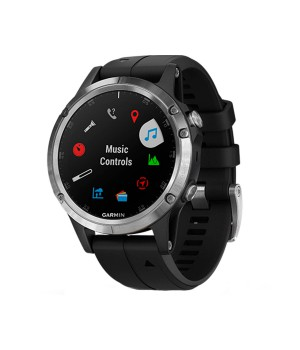 Фитнес-часы Garmin Fenix 5 Plus Silver with Black Silicone (010-01988-60)