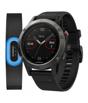 Фитнес-часы Garmin Fenix 5 Sapphire Performer Bundle Black with Black Band (010-01688-32)