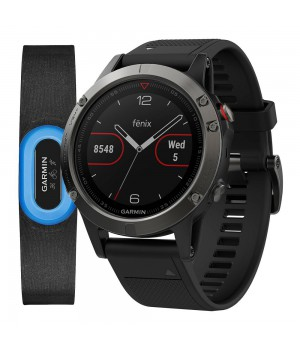 Фитнес-часы Garmin Fenix 5 Sapphire Performer Bundle Black with Black Band (010-01688-32)