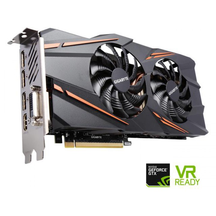 Видеокарта Gigabyte GeForce GTX1070 8GB, 256bit, DDR5 Windforce OC (GV-N1070WF2OC-8GD)