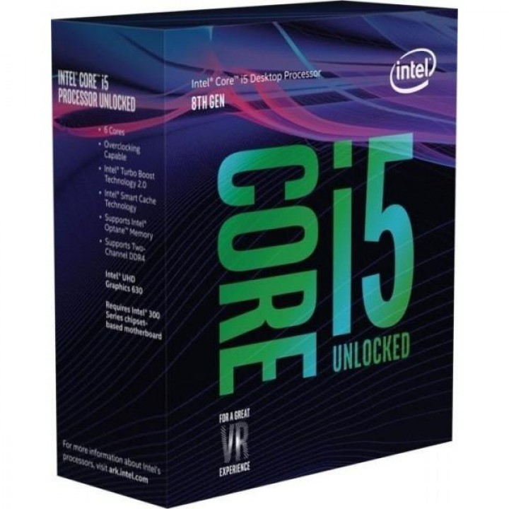 Процессор Intel Core i5-8600K LGA1151, 3.6GHz, Box (BX80684I58600K)