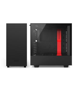 Корпус NZXT H500 Matte Black + Red (CA-H500B-BR)