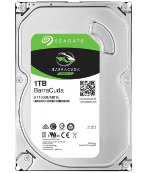 Жесткий диск Seagate BarraCuda HDD 1TB 7200rpm 64MB ST1000DM010 3.5 SATA III